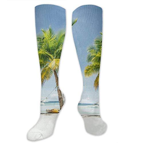 Calcetines de senderismo blancos para hamaca y árboles de ncoco, para correr, médicos, atletismo, edema, viajes
