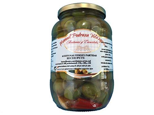 Aceitunas de primerisima calidad sabor inconfundible. 500gr unidad. Envío GRATIS 24h. (Aceitunas verdes rechupete)