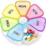 Large Weekly Pill Organizer, OAAO XL 7 Day Portable Pill Box Case Medicine Organizer for Vitamin, Cod Liver Oil, Pills, Supplements-Arthritis Friendly