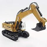 LIZHOUMIL Pelle télécommandée, 9 canaux 2.4G RC Engineering Digger Truck Toys avec Son et...