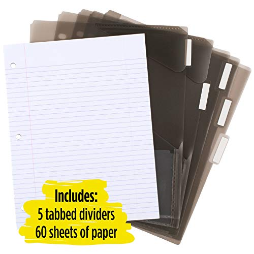 Five Star Flex Hybrid NoteBinder, 1 Inch Binder with Tabs, Notebook and 3 Ring Binder All-in-One, Assorted Colors, Color Selected for You, 1 Count (29326) Photo #5