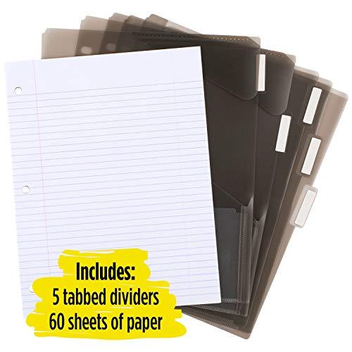 Five Star Flex NoteBinder, 1 Inch Binder, Customizable, Notebook and Binder All-in-One, Black (29326AA2) Photo #3