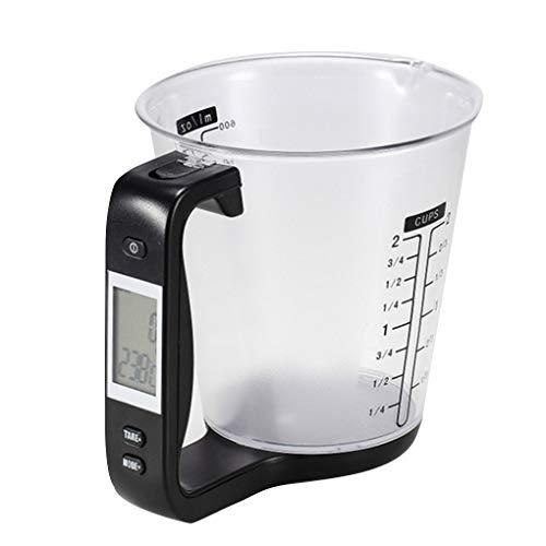 Topker Elektronischer Messbecher Digitale Multifunktionsmessbecher Küchen Cup,Water Oil Volume Cup,Milk Milch-Wasser-Öl Volumen Cup Skala wiegen