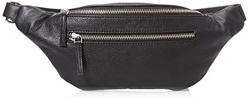 PIECES Womens PCABELLE LEATHER BUMBAG Tasche, Black, ONE Size