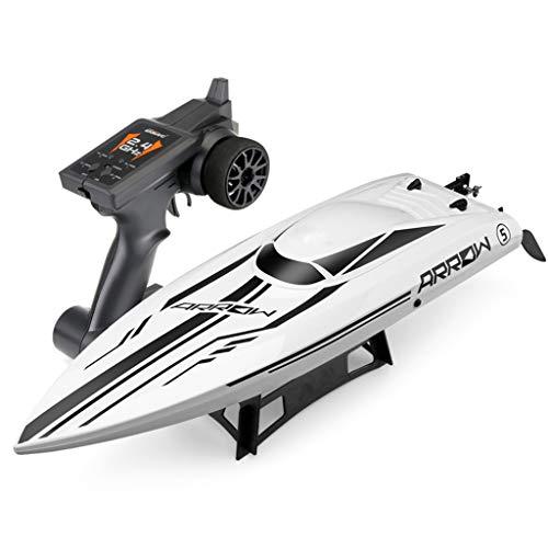 PBTRM RC Motoscafo Barca Regata Alta velocità 2.4G 50 Km/H con Motore Brushless Ad Alta velocità Raffreddato Ad Acqua per Piscine E Laghi, Barche Modello Giocattolo per Bambini E Adulti