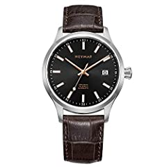 316L stainless steel case with top grain Italy genuine leather strap. fixed stainless steel bezel.scratch resistant sapphire crystal.the case is 200 meters waterproof. Japan NH 35 automatic movement with date indicator and analog display Italian leat...