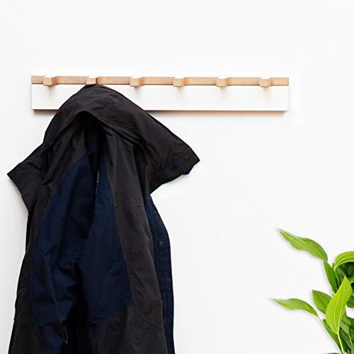 Tojo Grad I Garderobe für Jacken, Mäntel, Schals und Handtaschen I Weiße Designer Flurgarderobe Wandbefestigung I Modulare Garderobensystem I Garderobenpaneel