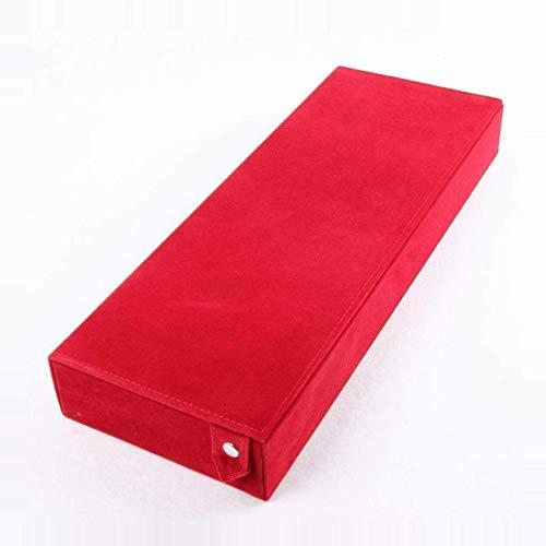 WANZSC 48,5 x 18 x 6 cm, caja de almacenamiento para gafas de sol, 8 compartimentos, caja de exhibición de joyas, estante (rojo)