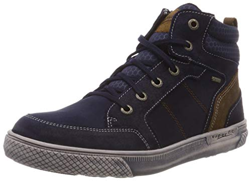 Superfit Jungen Luke Hohe Sneaker, Blau (Blau/Braun 80), 38 EU