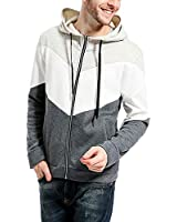 lexiart Mens Athletic Hoodie Zip Up - Fashion Sweatshirt Sport Tracksuits Jackets US XS Grey