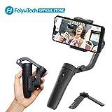 FeiyuTech Vlogpocket Estabilizador pare Móvil,Más ligero Handheld 3-Ejes Gimbal Stabilizer pare iPhone/Samsung/Huawei/XiaoMi,negro