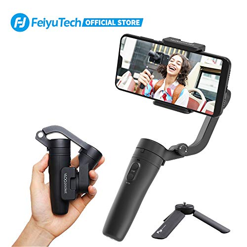 FeiyuTech VLOGpocket 3-Axis Smartphone Gimbal Handheld Stabilizer for Vlog YouTube Tik Tok Live Video Fits iPhone SE 11 Pro X XR XS Android Smartphone HUAWEI P40 P30 P9 Mate 10 Samsung Note 9 S10+ S7 XIAOMI 9 XIAOMI 8 Come with Mini Tripod