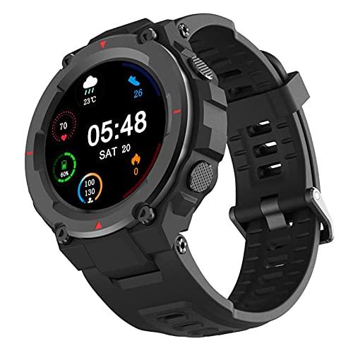 Reloj Inteligente Prueba Agua Para Teléfono Android IOS Monitorización Del Ritmo Cardíaco Sueño 1.28 Pulgadas Pantalla Táctil Acolor HD 280Mah Batería Fitness Smartwatch Notificación Recordatorio