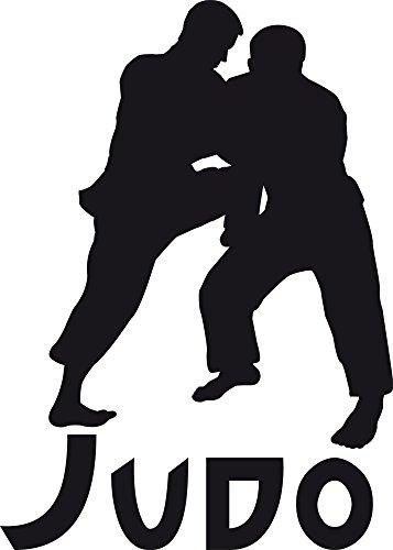 GRAZDesign Wandtattoo Judo Wandsticker Kampfzimmer Sportler Motivation, Fitness, Fitnessraum (80x57cm//070 schwarz)