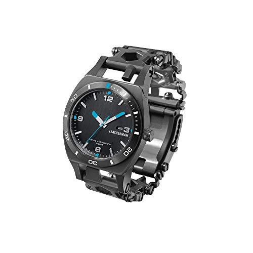 LEATHERMAN - Tread Tempo, Multi-Tool-Armbanduhr, 30 Werkzeuge stets griffbereit am Handgelenk, flexibel einstellbar, Edelstahl, Schwarz