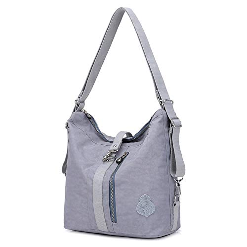 Outreo Borsa Tracolla Donna Borse a Spalla Griffate Borsetta Sport Zaino Impermeabile Borse da Viaggio Sacchetto per Ragazza Tasche Messenger Bag (Grigio)