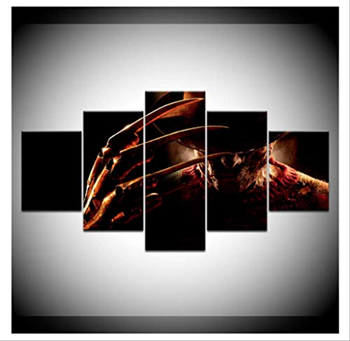 RUIYAN Leinwandbilder Leinwand Kunst Freddy Krueger Horrorfilm EIN Albtraum Auf Ulme Straße Poster Gemälde Für Wohnzimmer Wand-dekor Qz49T150X100 cm Kein Rahmen