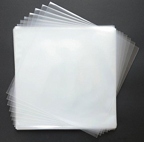 Envly - Fundas transparentes de plástico para discos de vinilo, 50 unidades, 32,5 cm