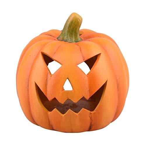 Dadeldo - Calabaza para Halloween (cerámica, 15 x 15 x 14 cm), Color Naranja