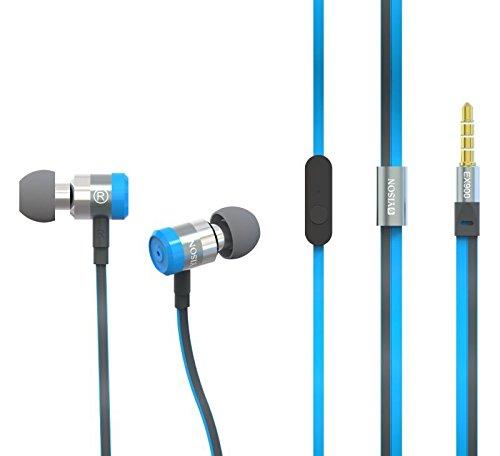 Yison ® Blaupunkt Discovery 111C / Blaupunkt Discovery 1000C / Blaupunkt Discovery 108C 10.1 Zoll Tablet PC Metal Series EX900 Super Bass Blau In Ear Kopfhörer Kopfhörer mit Mikrofon & Lautstärkeregelung geeignet für