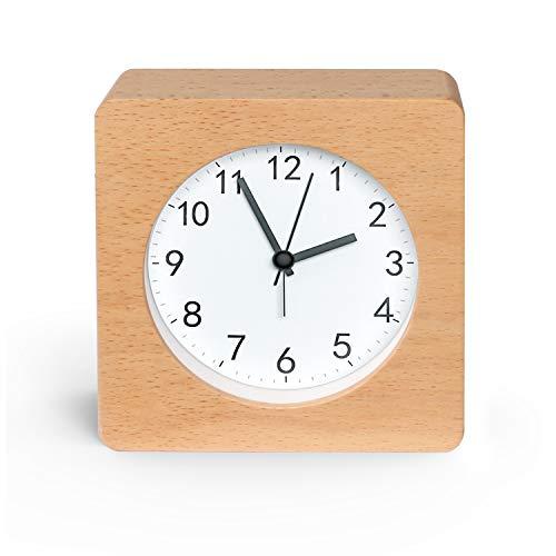 Kinderwecker Jungen, Retro Uhr - Leise Tischuhr Ohne Ticken Wecker Kinder Analoge Wecker Wecker für Jungs Mädchen Jungen (001)