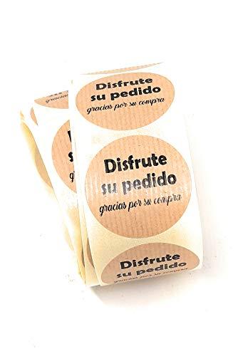 Etiquetas adhesivas kraft Disfrute su pedido, gracias por su compra