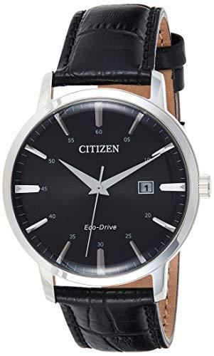 Citizen Reloj Analógico para Hombre de Eco-Drive con Correa en Cuero BM7460-11E