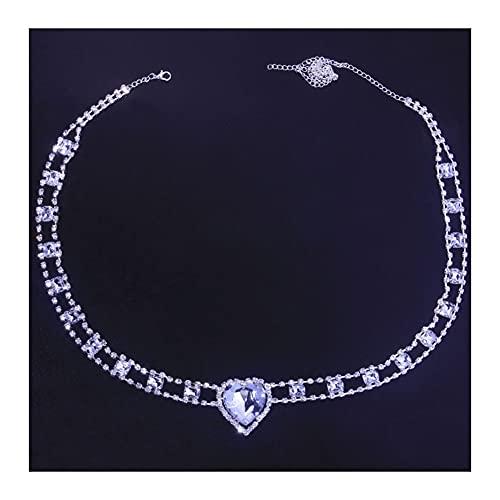 Rhinestone Sexy corazón Colgante cinturón Cadena círculo Enlace Cadena del Cuerpo del Vientre para Las Mujeres