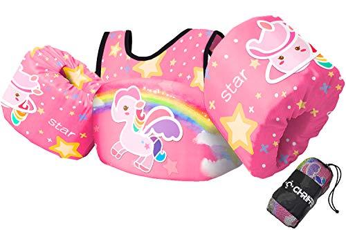 Chriffer Kids Swim Vest Life Jacket for 30-50 Pounds Boys and Girls, Toddler Floaties with Shoulder...