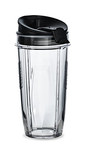 Nutri Ninja 680 ml BPA-freier Tritan-Becher mit Ausguss-Deckel für Nutri Ninja Mixer (XSK2424), 2er-Pack