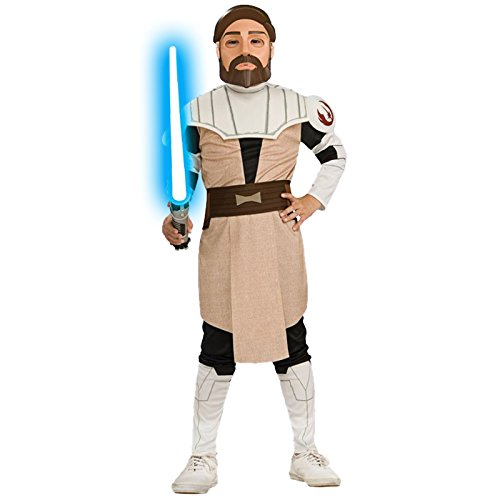 Rubie`s Deluxe Obi WAN Kenobi Costume per Bambini Star Wars Costume per Bambini