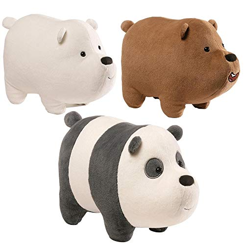 Gund - we Bare Bears 5 x 3.5 Inch Magnetic Stackable Set of 3 Plush Toys