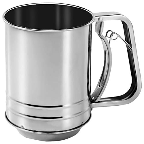 Sifter for Baking, Four Sifter 3 Cup Stainless Steel for Powdered Sugar