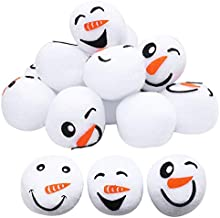 Cooraby 18 Pieces 2.4 Inches Snowball Fun Set Plush Snowmen Balls Fake Snowball Realistic and Interesting for Winter Game