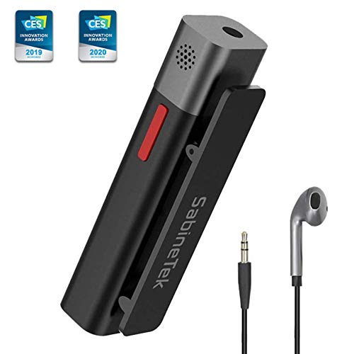 SabineTek SmartMike+ True Wireless Stereo Lavalier Microphone for Content Creators, DSLR Camera Phone Computer Lapel Mic to Vlogging Youtuber Recording