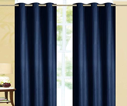 """Empire Home Elizabeth 100% Solid Blackout Window Curtains Thick Single Panels - Overstock Sale!! (Navy Blue, 63"""" Short)"""