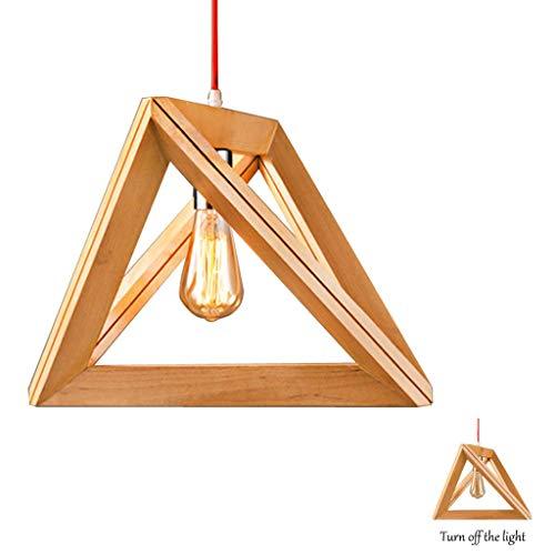CattleBie Lampada a sospensione a LED in legno da pranzo in vetro Lampada da tavolo in legno Lampada a sospensione Lampada Vintage cucina industriale lampada a sospensione interni decorativi Lampadari