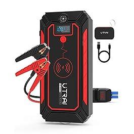UTRAI Jstar 4 Démarreur d'urgence pour voiture 12 V 2500 A 24 000 mAh Jump Starter Portable Moto (8 L essence / 7 L…