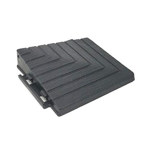 Premium Umrandung Randabschlussecke schwarz für PP Terrassenfliesen – 30 x 30cm, Anti-Rutsch-Oberfläche, Klickfliesen aus Kunststoff in Holzoptik, Bodenbelag, witterungsbeständig, FORTENA