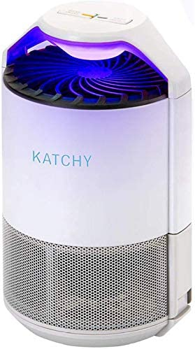 Katchy室内昆虫和飞行虫子陷阱果蝇GNAT蚊子杀手与紫外线灯扇粘稠胶水板没有Zapper白色