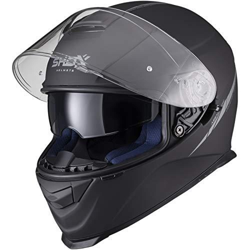 shox Assault Evo Motorradhelm, Größe L, matt schwarz