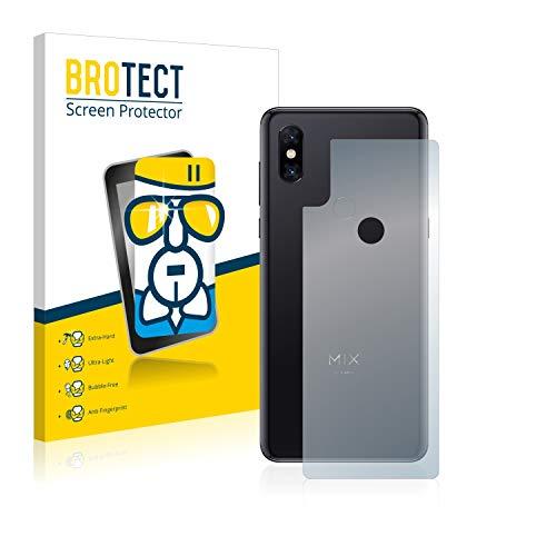 BROTECT Panzerglas Schutzfolie kompatibel mit Xiaomi Mi Mix 3 5G (Rückseite) - 9H Extrem Kratzfest, Anti-Fingerprint, Ultra-Transparent