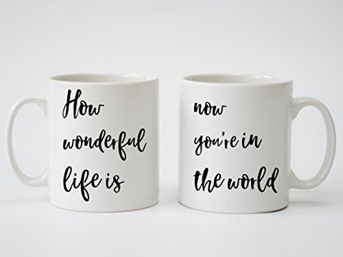 Ellie Goulding Ihre Lied Songtext personalisierbar Print–Paar Tassen, Hochzeitstag, Hochzeit, Verlobungsring