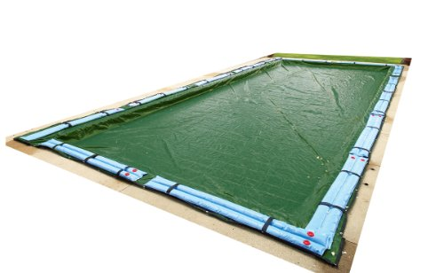 Blue Wave Silver 12-Year 20-ft x 40-ft Rectangular In Ground Pool Winter Cover -  BWC852