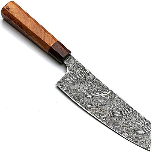 PAL 2000 Cuchillos de cocina de acero Damasco – 7.4 pulgadas aprox....
