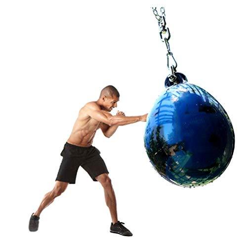 GYPPG Boxsack 15 kg, wassergefüllter Boxsack hängen, Hook Kick Fitness Karate Boxen Sanda Professional Speed Training Punch Sandsack mit Eisenkette, Wasserrohrschlinge, 30 cm (R) x 37 cm (H)