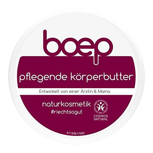 boep Pflegende Körperbutter – Naturkosmetik Body Butter mit Sheabutter für samtweiche, entspannte Haut (125ml)
