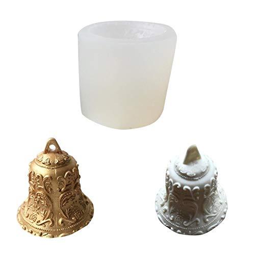 DLRBWAN Seifenbasis Weihnachtsglocken Form Aroma Kerze Gipsform AR Dekoration Kerzenform Mousse Backform DIY Silikonform