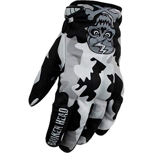 Broken Head MX-Handschuhe Rebelution - Motorrad-Handschuhe Für Motocross, Enduro, Mountainbike - Camouflage Grau (M)