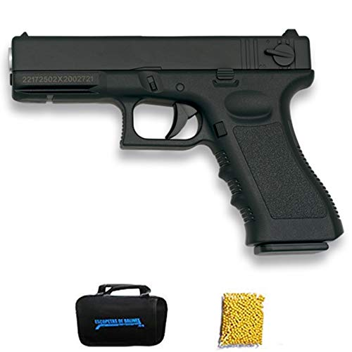 Golden Eagle Glock Negra   Pistola de Airsoft con Sistema Muelle para Bolas de 6mm....